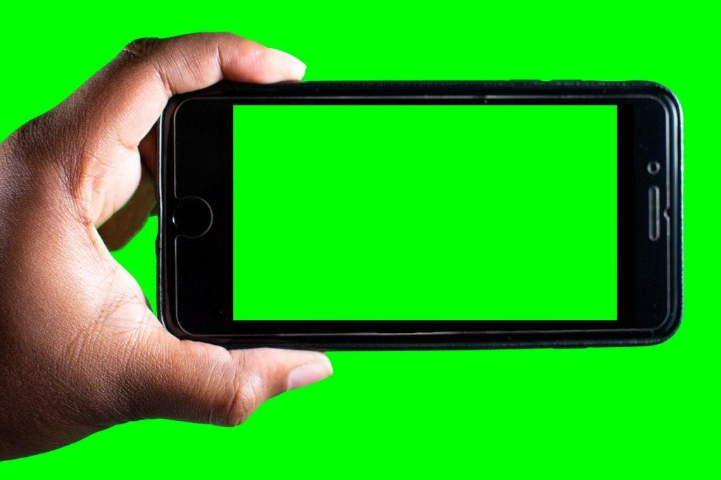 green screen youtuber