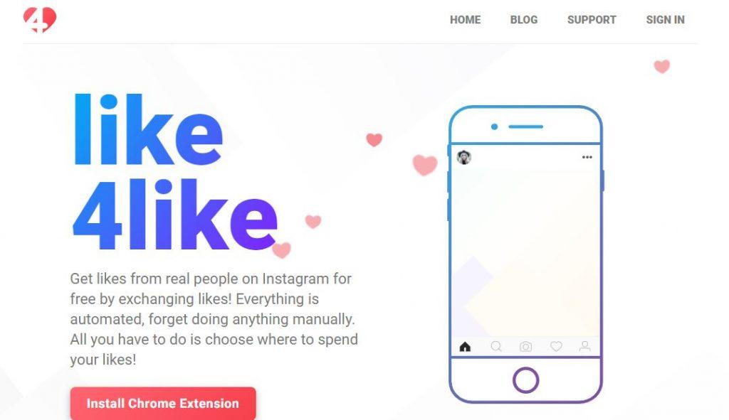 like4like instagram app