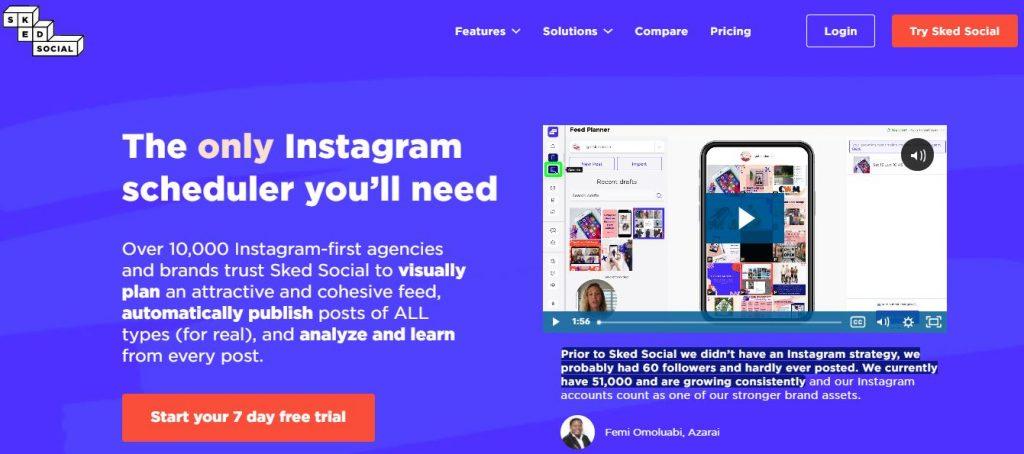 tool per instagram sked social