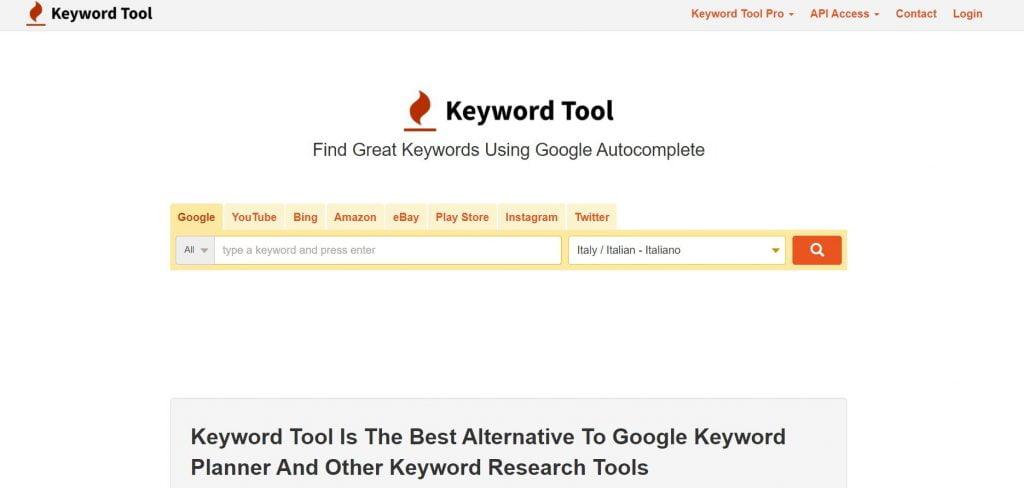 youtube tool keyword