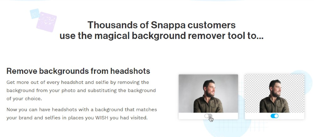 Snappa background remover