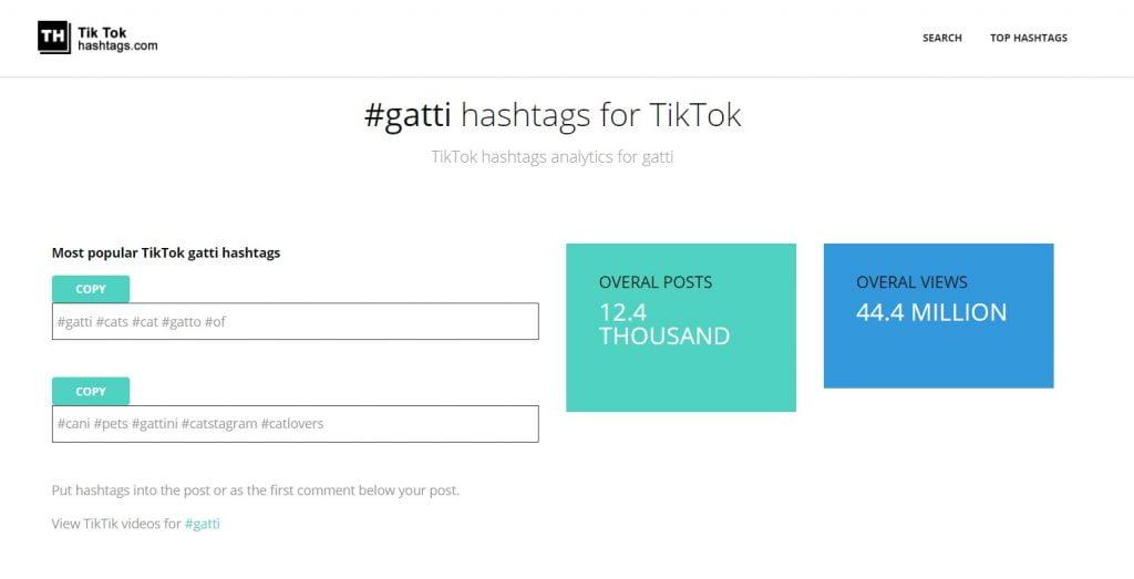 hashtag tiktok generator