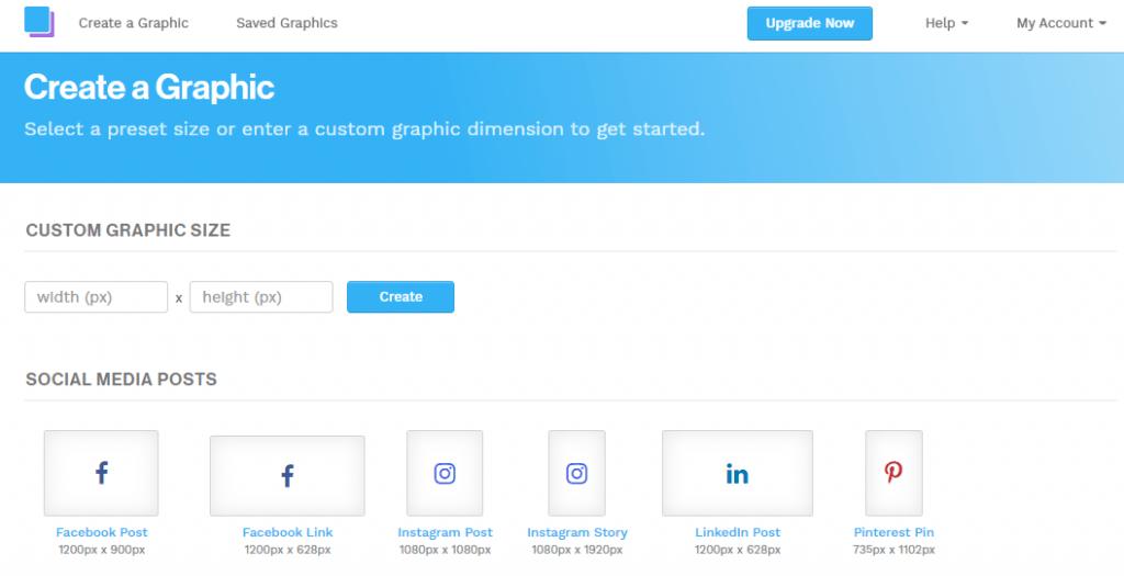 siti per creare grafiche_Snappa