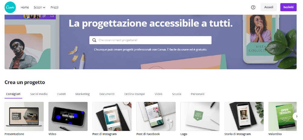 siti per creare grafiche_Canva