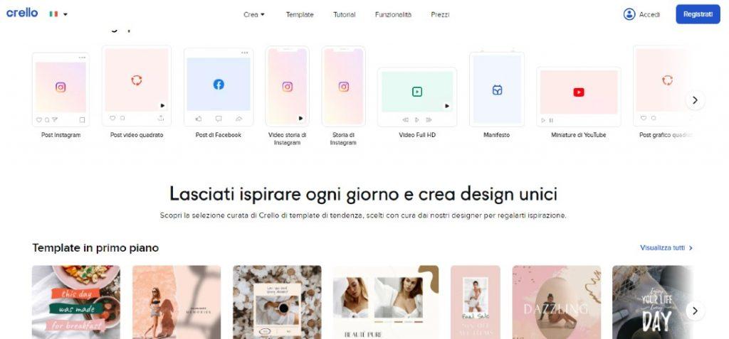 siti per fare grafica online _ Crello