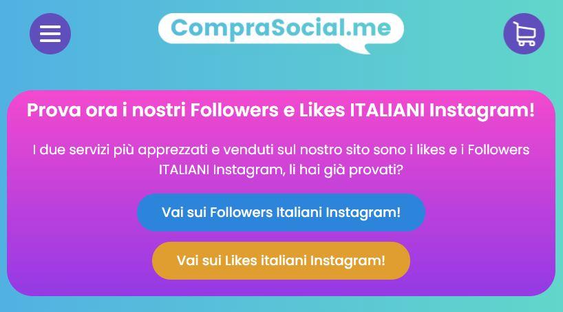 app per comprare follower instagram comprasocial
