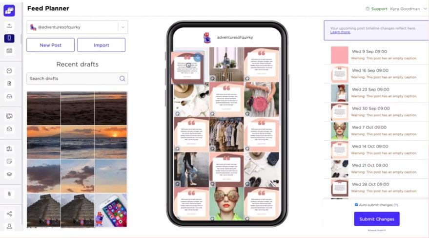 app per organizzare feed instagram sked