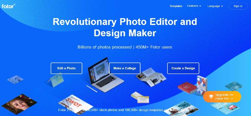 creare post instagram online fotor