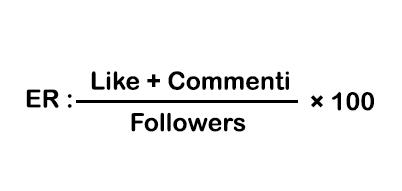 Instagram engagement rate formula