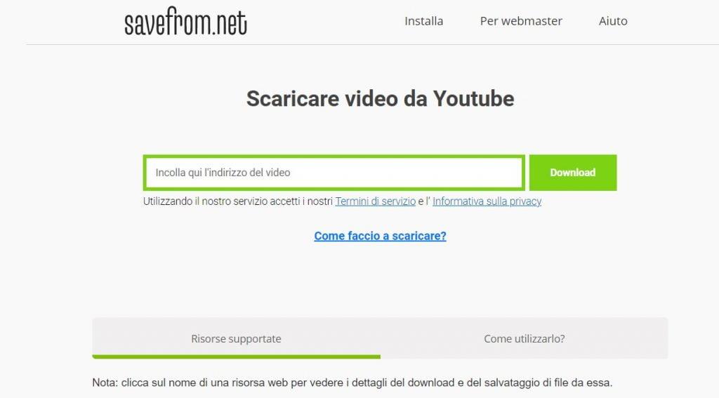 scaricare video da youtube gratis