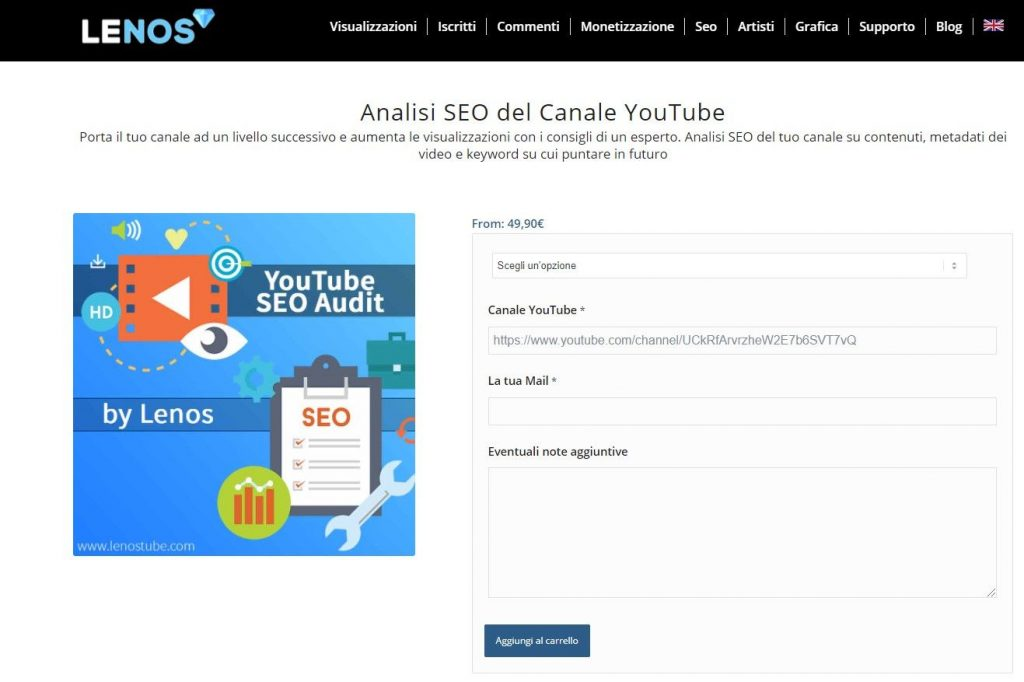 analisi canale youtube