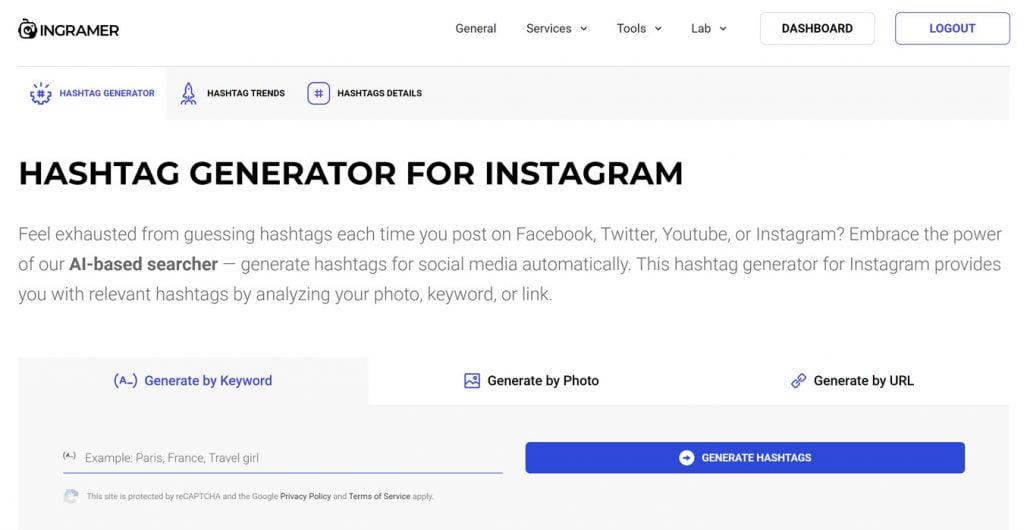 ingramer hashtag generator