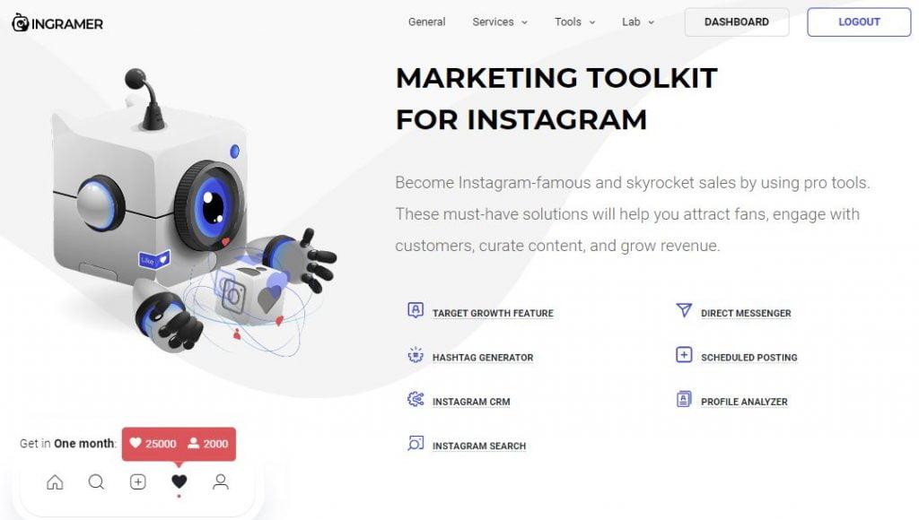 applicazione per aumentare i follower su instagram ingramer