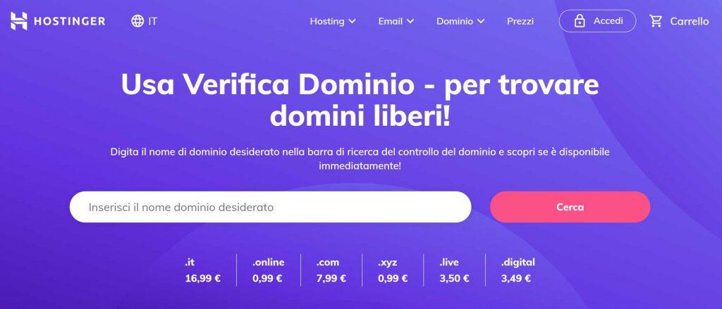 hostinger dominio