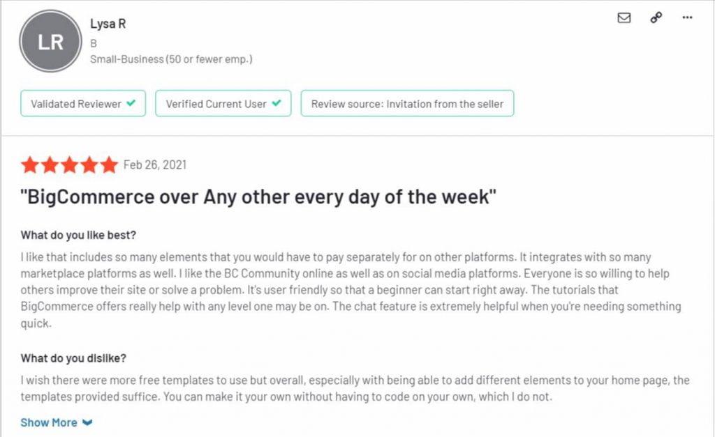 BigCommerce recensioni ed opinioni