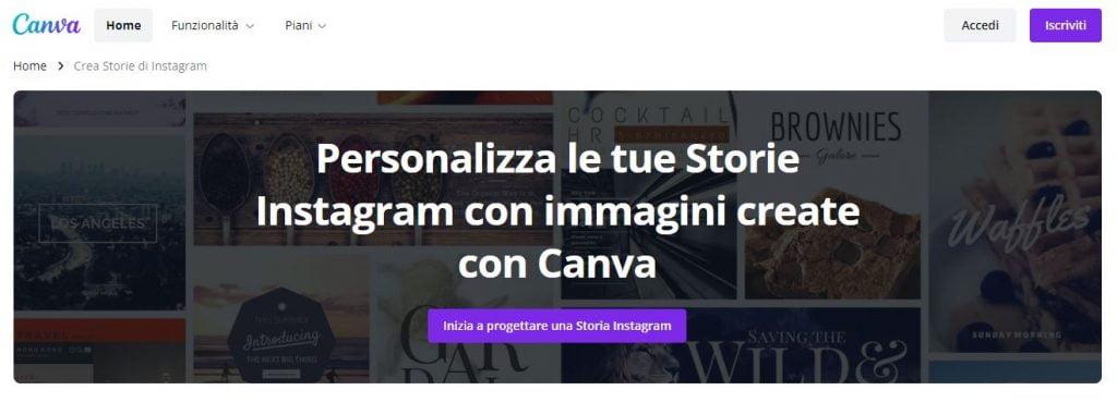 app per creare storie instagram canva